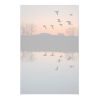 Evening Geese Stationery