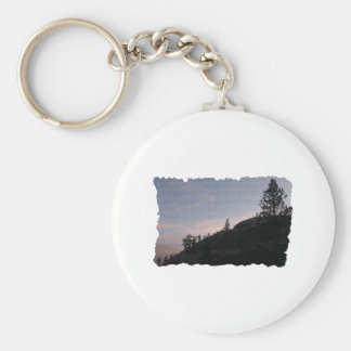 Evening Hike Basic Round Button Key Ring