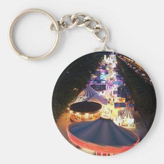Evening in Paris Basic Round Button Key Ring