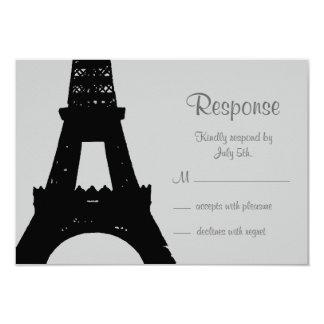 Evening in Paris RSVP 9 Cm X 13 Cm Invitation Card