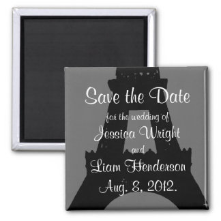 Evening in Paris Save the Date Square Magnet
