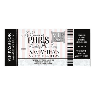 Evening in Paris Sweet 16 Party Invitations