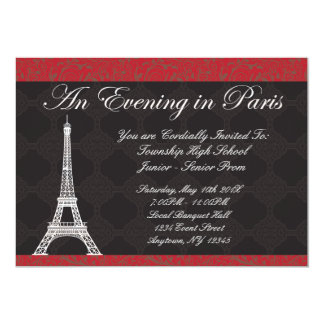 Evening in Paris Theme Prom Invitations