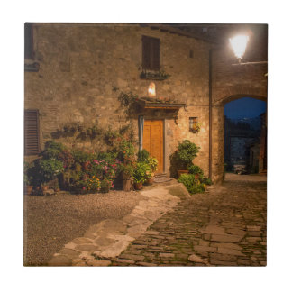 Evening in the ancient hillside town tile