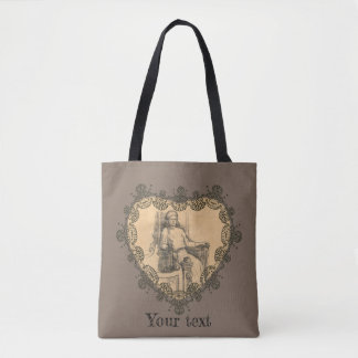 Evening in the old house tote bag