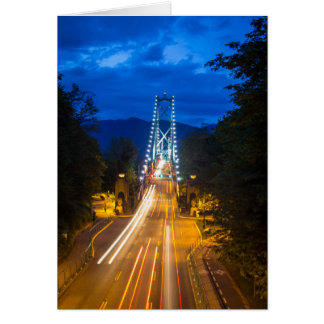 Evening in Vancouver Card