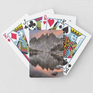 Evening Kearsarge Pinnacles Reflections Bicycle Playing Cards