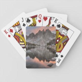 Evening Kearsarge Pinnacles Reflections Playing Cards
