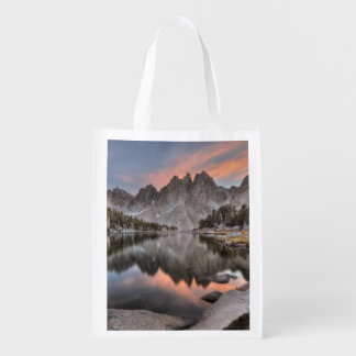 Evening Kearsarge Pinnacles Reflections Reusable Grocery Bag