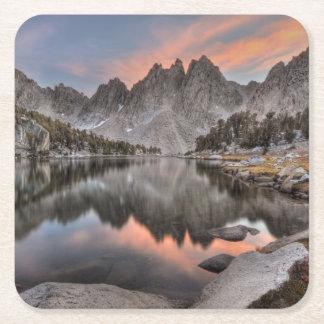 Evening Kearsarge Pinnacles Reflections Square Paper Coaster