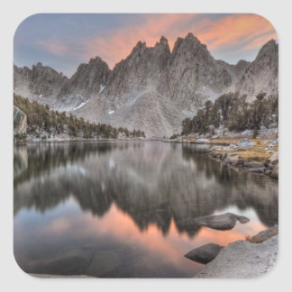Evening Kearsarge Pinnacles Reflections Square Sticker