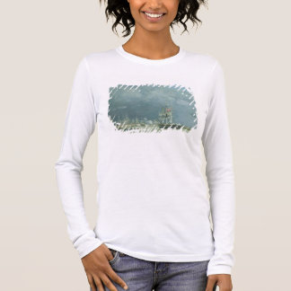 Evening, Le Havre, 1866 (oil on canvas) Long Sleeve T-Shirt