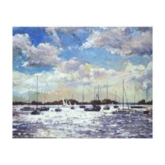 Evening Light Gulf of Morbihan 2002 Canvas Print