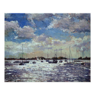 Evening Light Gulf of Morbihan 2002 Poster