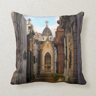 Evening Light In Recoleta Cemetery Cushion