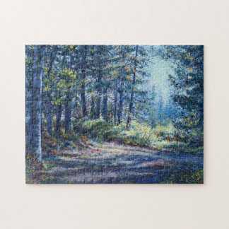"""""""Evening Light On the Trail"""" Jigsaw Puzzle"""