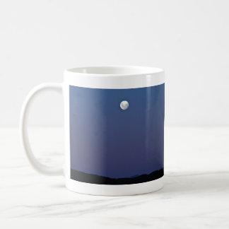 Evening Moon and blue Sky Mugs
