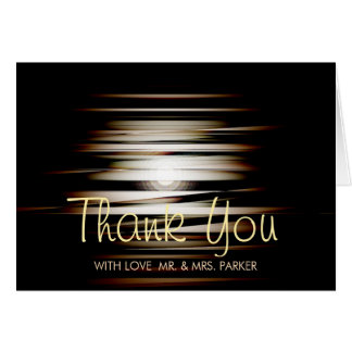 Evening Moon Modern Glow in the Dark Thank You Card