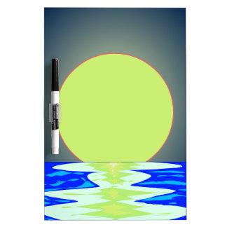 Evening Ocean Reflections Dry Erase Board