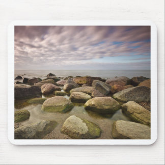 Evening on shore of the Baltic Sea Mouse Pads