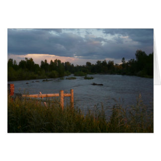 Evening on the Gallatin River Card