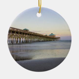 Evening Peace On Folly Beach Christmas Ornament