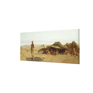 Evening Prayer in the West, 1872 Canvas Print