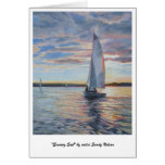 """Evening Sail"" by artist Sandy Nelson Greeting Card"
