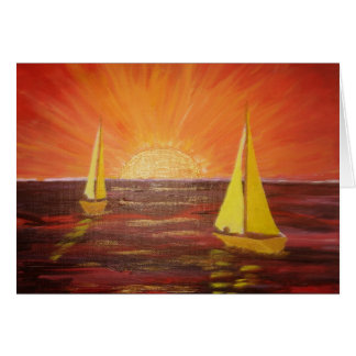 Evening Sail - Greeting Card