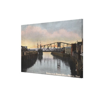 Evening Scene on Wishkah River Canvas Print