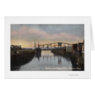 Evening Scene on Wishkah River Greeting Card