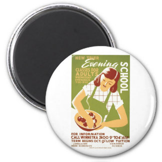 Evening School: Classes for Adults 6 Cm Round Magnet