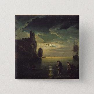 Evening Seascape 15 Cm Square Badge