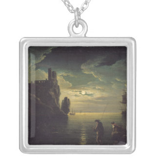 Evening Seascape Silver Plated Necklace