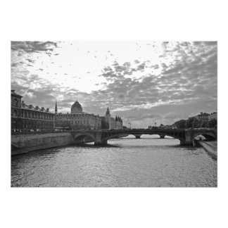 Evening. Sena. Bridges. Paris Photo Print