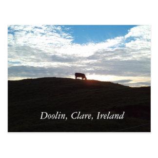 Evening shadows in Doolin, Clare, Ireland Postcard