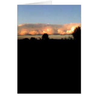 Evening Shelf Cloud Greeting Card