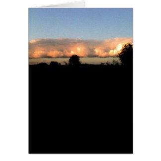 Evening Shelf Cloud Greeting Card