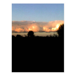 Evening Shelf Cloud Postcard
