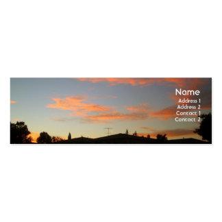 Evening Sky Profile Card Business Card