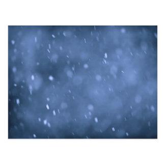 Evening snow postcard