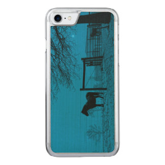Evening Snow Squall Carved iPhone 8/7 Case
