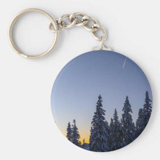 Evening Snowscape Keychains