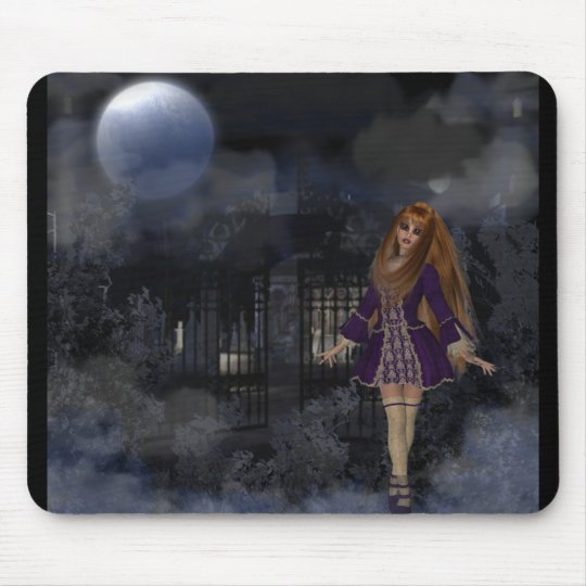 Evening Stroll Gothic Fantasy Redhead Girl Mouse Mat