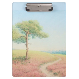 Evening Sun, New Forest Pine Trees Clipboard