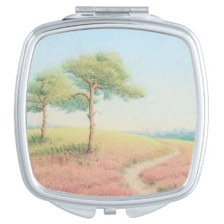 Evening Sun, New Forest Pine Trees in Pastel Makeup Mirror