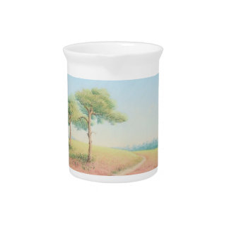 Evening Sun, New Forest Pine Trees in Pastel Pitcher