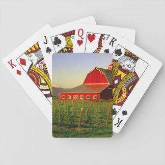 Evening sun on a barn in Washington's Skagit Playing Cards