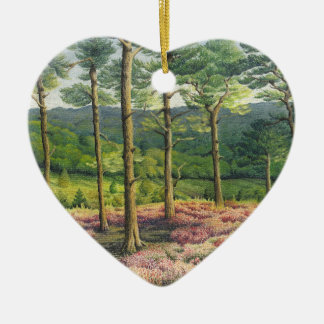 Evening Sun Surrey Hills Pines Pastel Best Friends Ceramic Heart Decoration