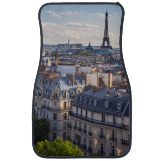 Evening sunlight over the buildings of Paris Car Mat